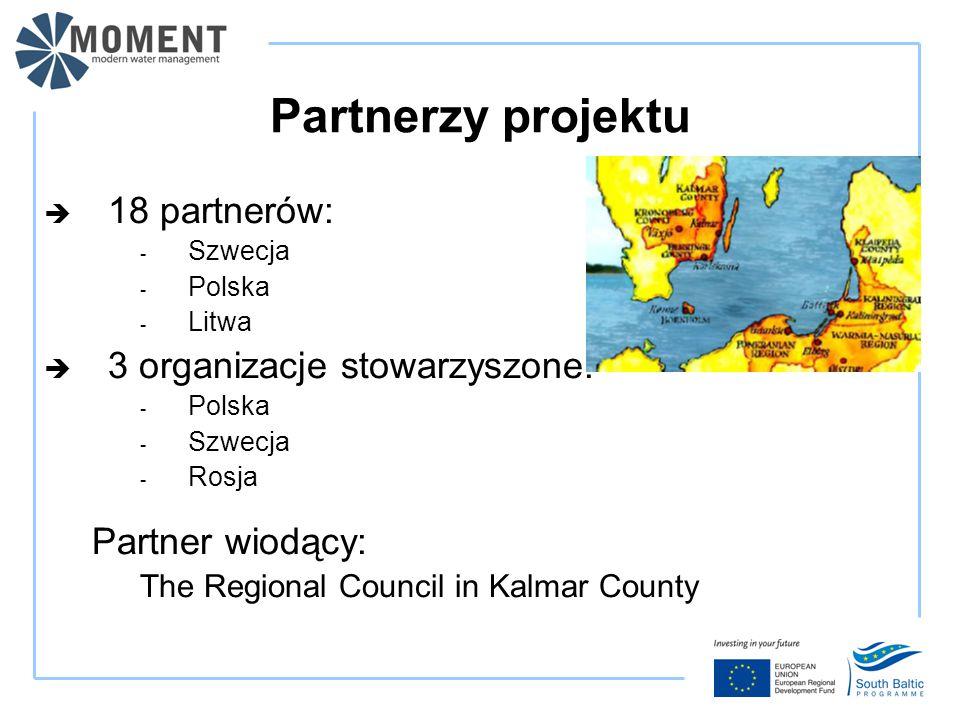 Partnerzy projektu  18 partnerów: - Szwecja - Polska - Litwa  3 organizacje stowarzyszone: - Polska - Szwecja - Rosja Partner wiodący: The Regional Council in Kalmar County