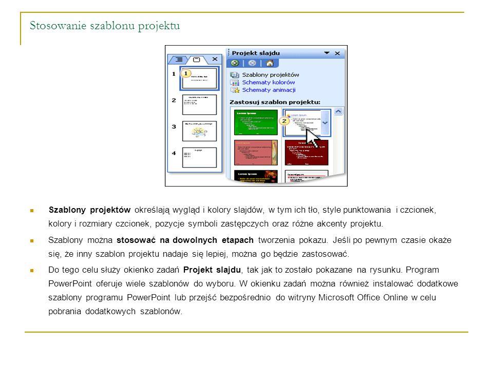 Układ slajdu Przy tworzeniu slajdów pojawia się kwestia rozmieszczenia w nich poszczególnych elementów.