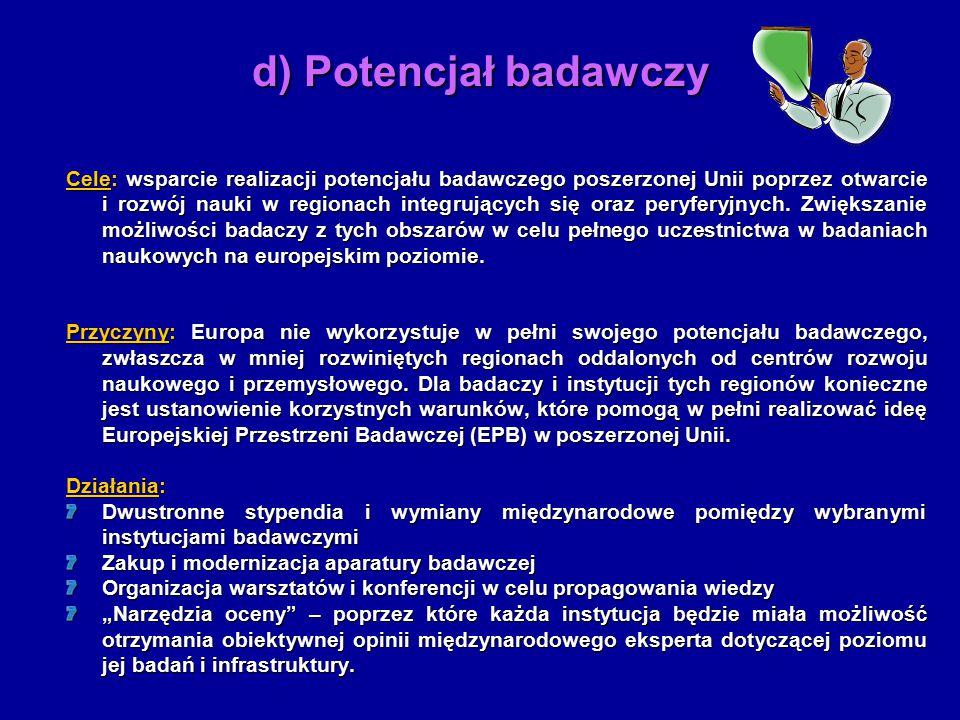 Cele: ntegracja naukowych i technologicznych starań w budowie efektywnego i demokratycznego europejskiego społeczeństwa opartego na wiedzy.