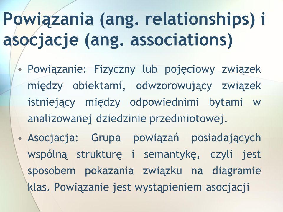 Powiązania (ang. relationships) i asocjacje (ang.