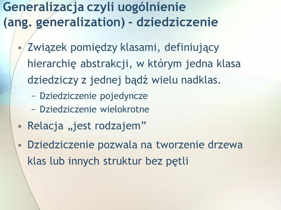 Generalizacja czyli uogólnienie (ang.