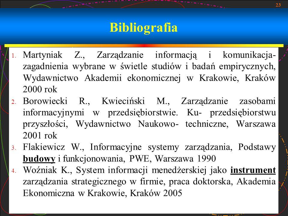 23 Bibliografia 1.