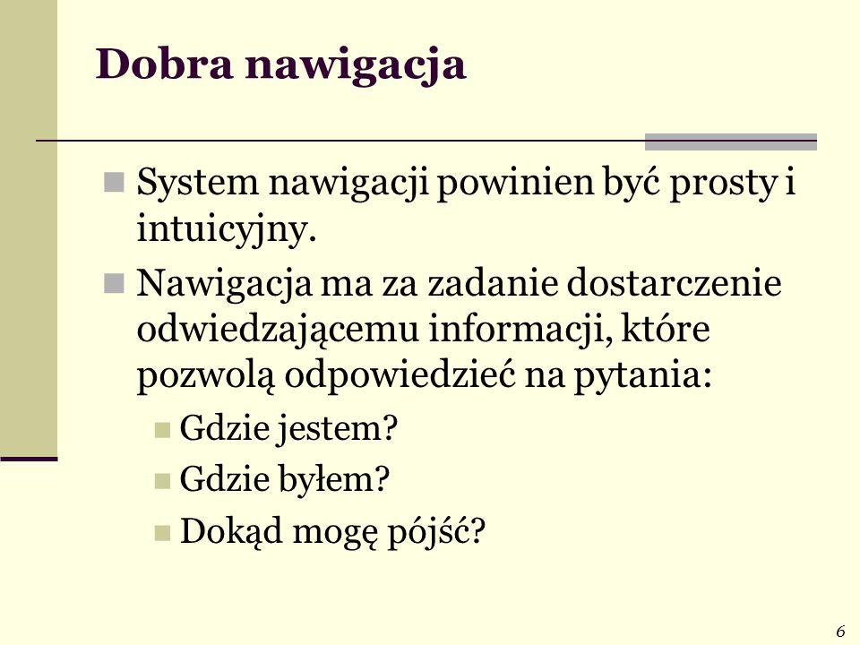 17 Tekst: formatowanie, odstępy, kolory (3) Użytkownik nie czyta stron www linijka po linijce, a skanuje stronę wzrokiem.