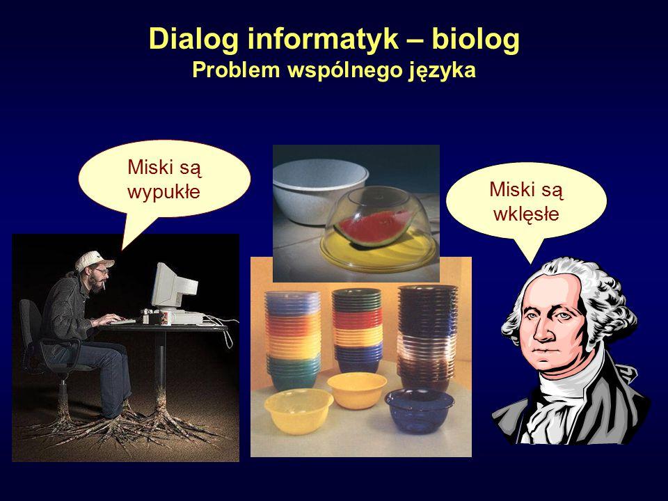 Miski są wklęsłe Miski są wypukłe Dialog informatyk – biolog Problem wspólnego języka