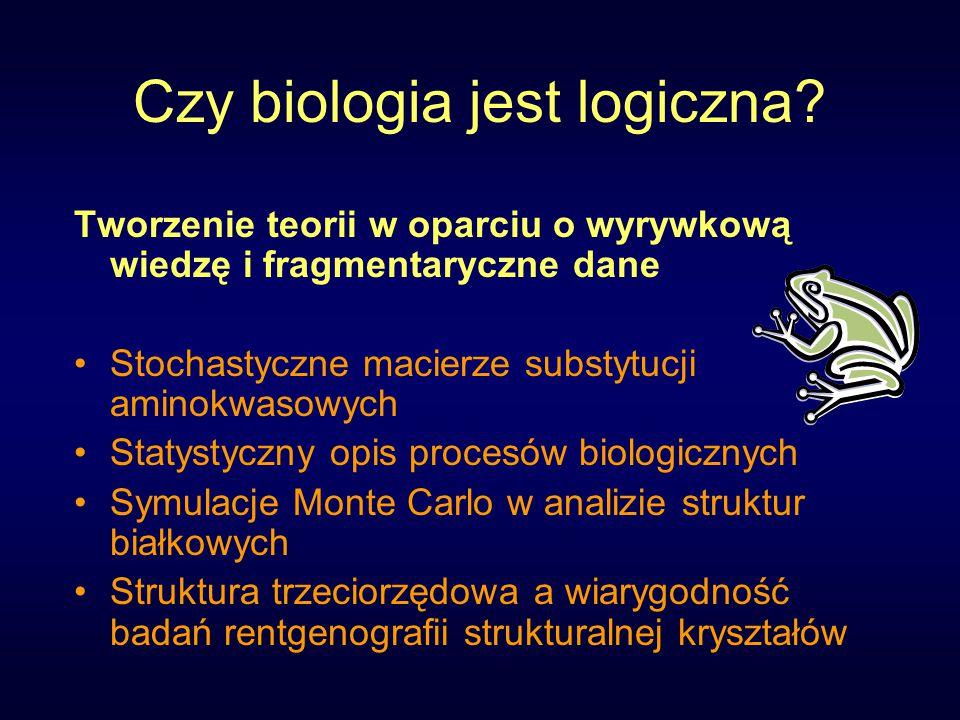 Czy biologia jest logiczna.