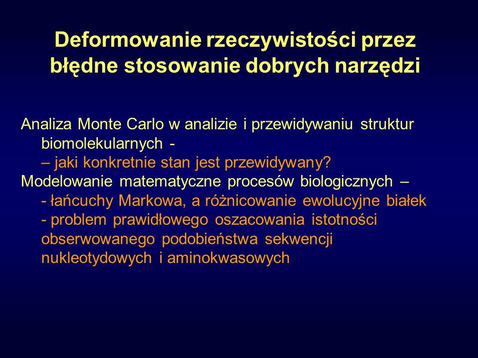 Analiza Monte Carlo w analizie i przewidywaniu struktur biomolekularnych - – jaki konkretnie stan jest przewidywany.