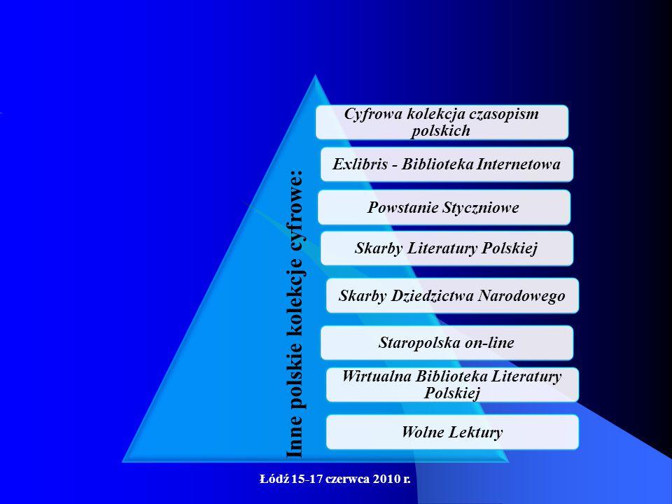 Łódź 15-17 czerwca 2010 r. Bałtycka Biblioteka Cyfrowa, Cyfrowy Dolny Śląsk, Dolnośląska Biblioteka Cyfrowa, Kaszubska Biblioteka Cyfrowa, Kujawsko-Po