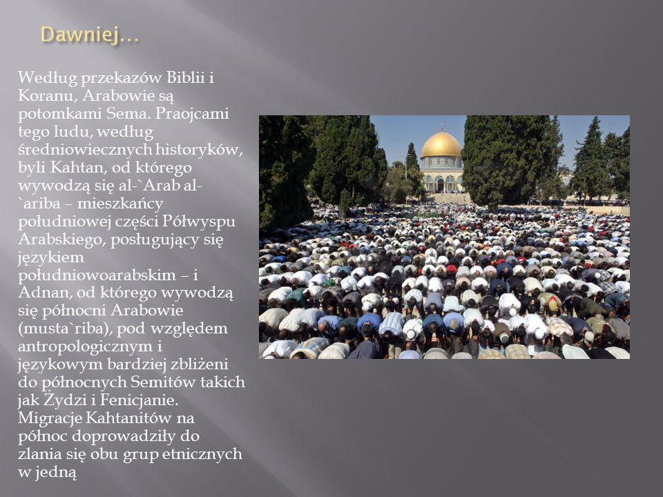 Według przekazów Biblii i Koranu, Arabowie są potomkami Sema.