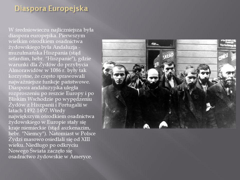 W średniowieczu najliczniejsza była diaspora europejska.