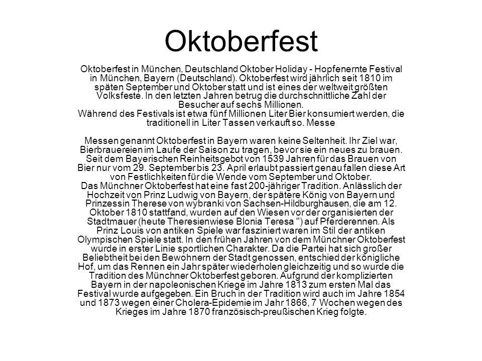 Oktoberfest Oktoberfest in München, Deutschland Oktober Holiday - Hopfenernte Festival in München, Bayern (Deutschland).
