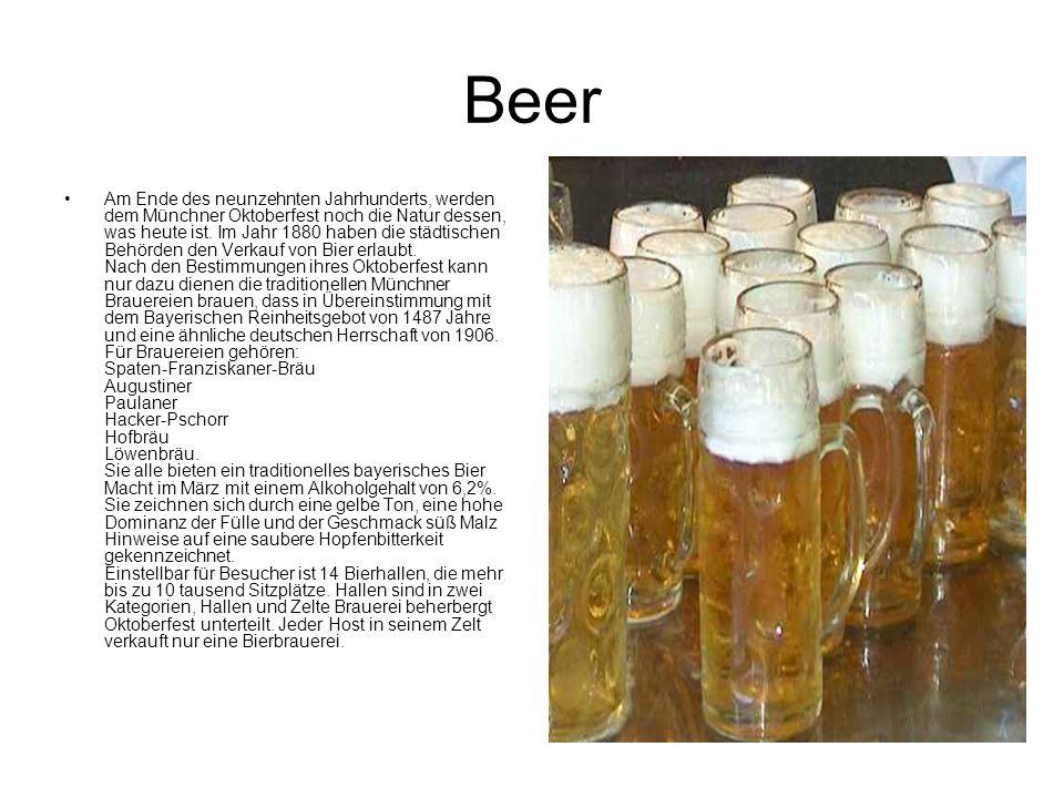 Beer Am Ende des neunzehnten Jahrhunderts, werden dem Münchner Oktoberfest noch die Natur dessen, was heute ist. Im Jahr 1880 haben die städtischen Be