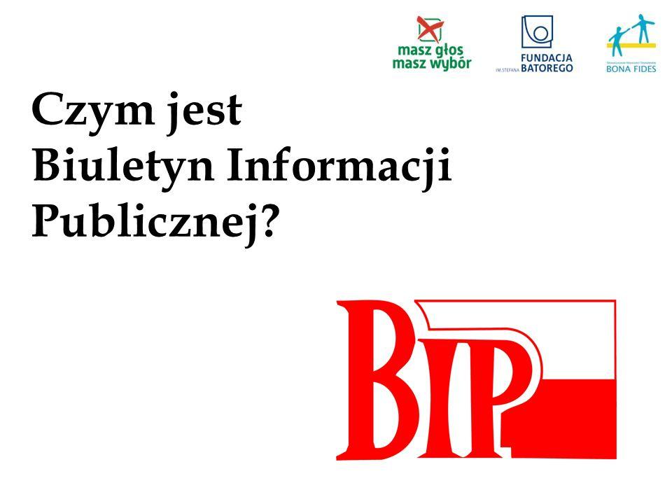Czym jest Biuletyn Informacji Publicznej?