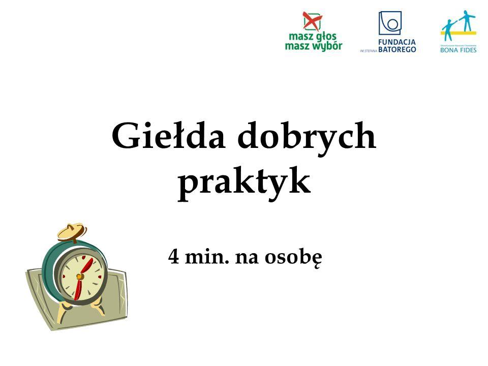 Giełda dobrych praktyk 4 min. na osobę
