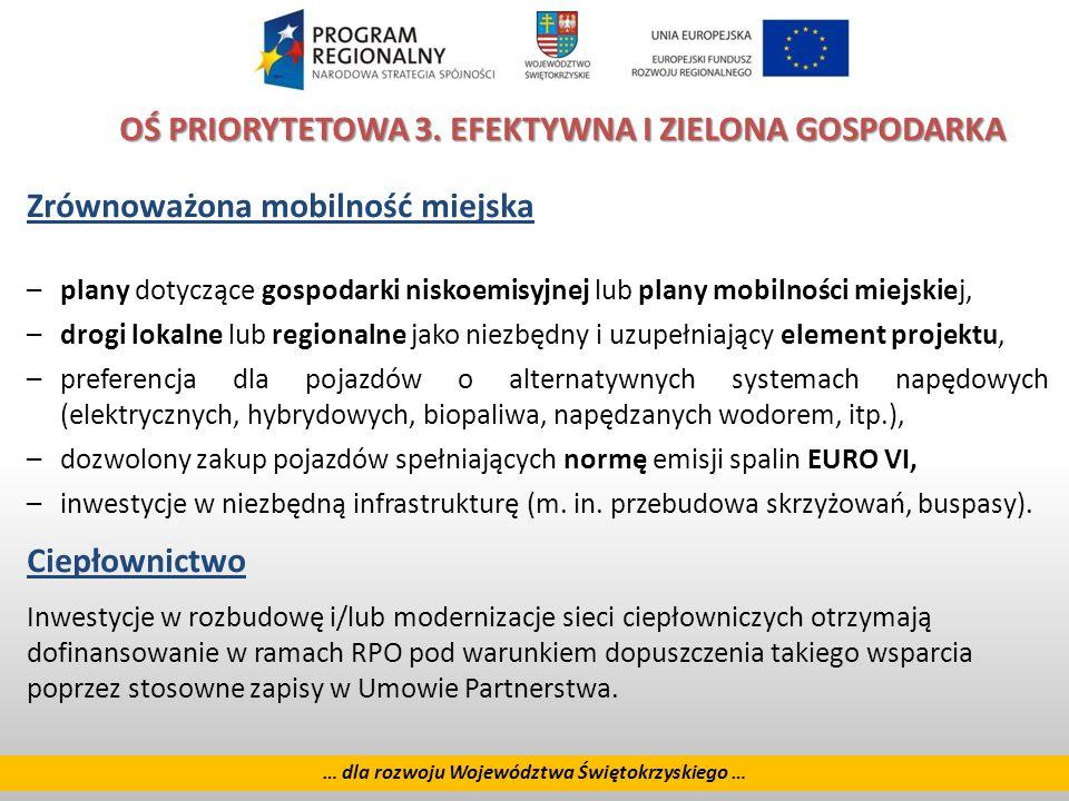 13 … dla rozwoju Województwa Świętokrzyskiego … OŚ PRIORYTETOWA 3.