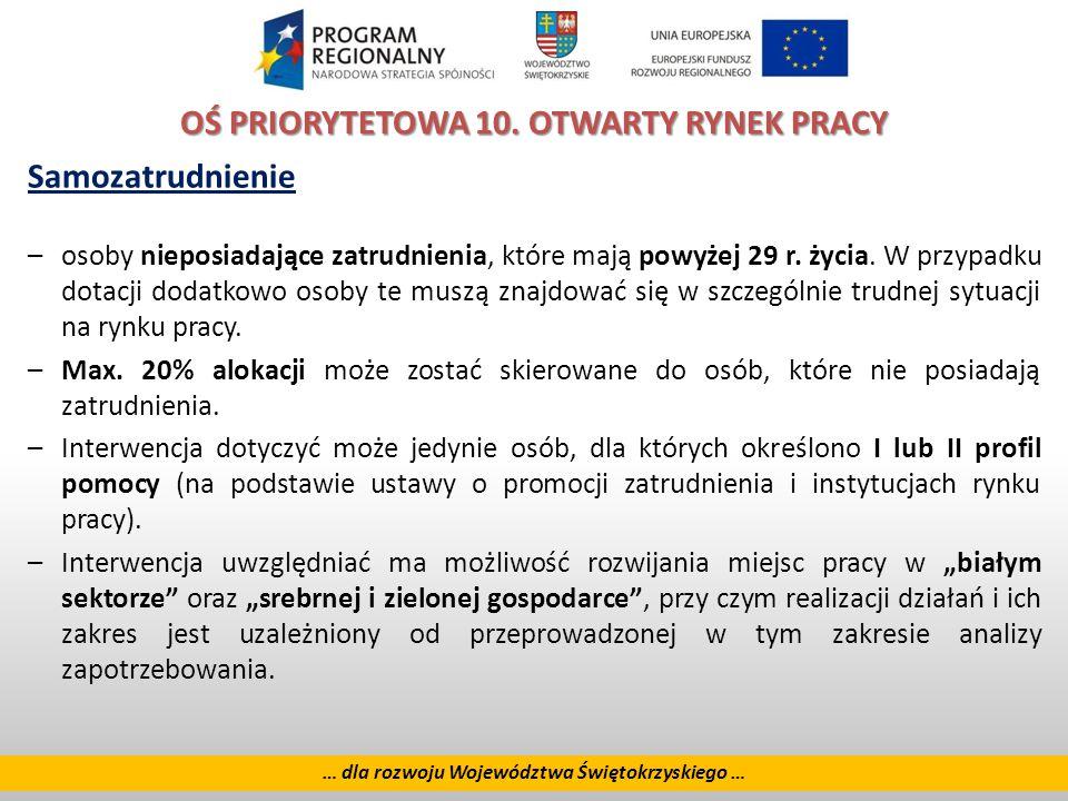 28 … dla rozwoju Województwa Świętokrzyskiego … OŚ PRIORYTETOWA 10.
