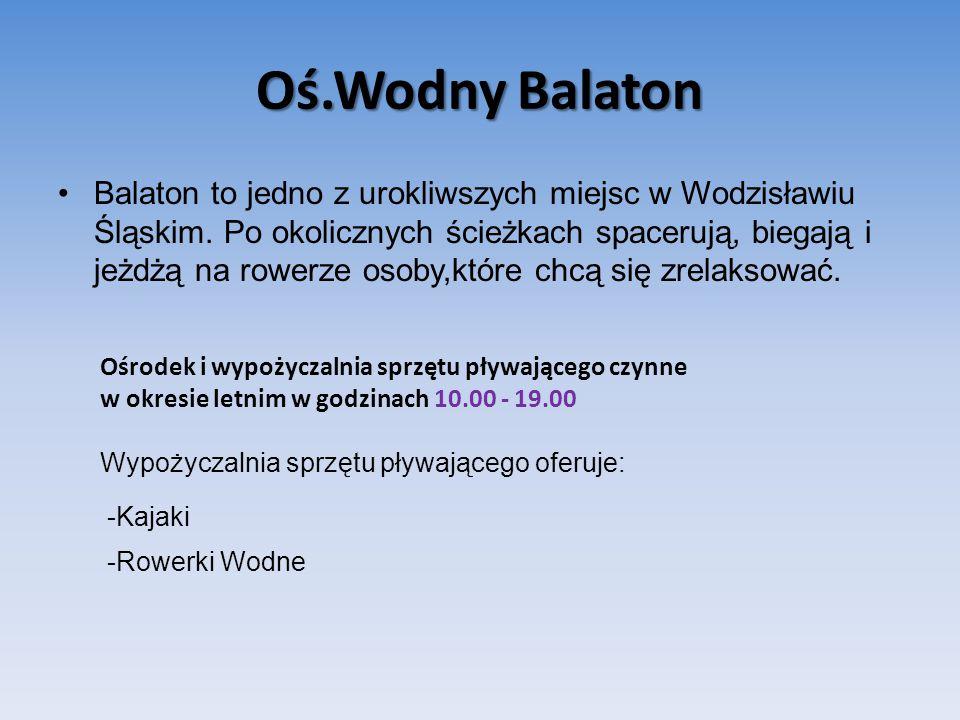 Oś.Wodny Balaton Balaton to jedno z urokliwszych miejsc w Wodzisławiu Śląskim.