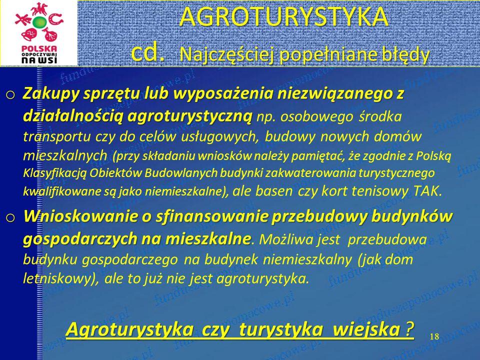 AGROTURYSTYKA cd.