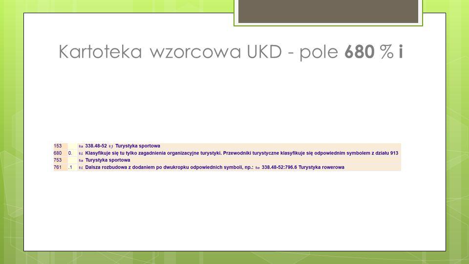 Kartoteka wzorcowa UKD - pole 680 % i