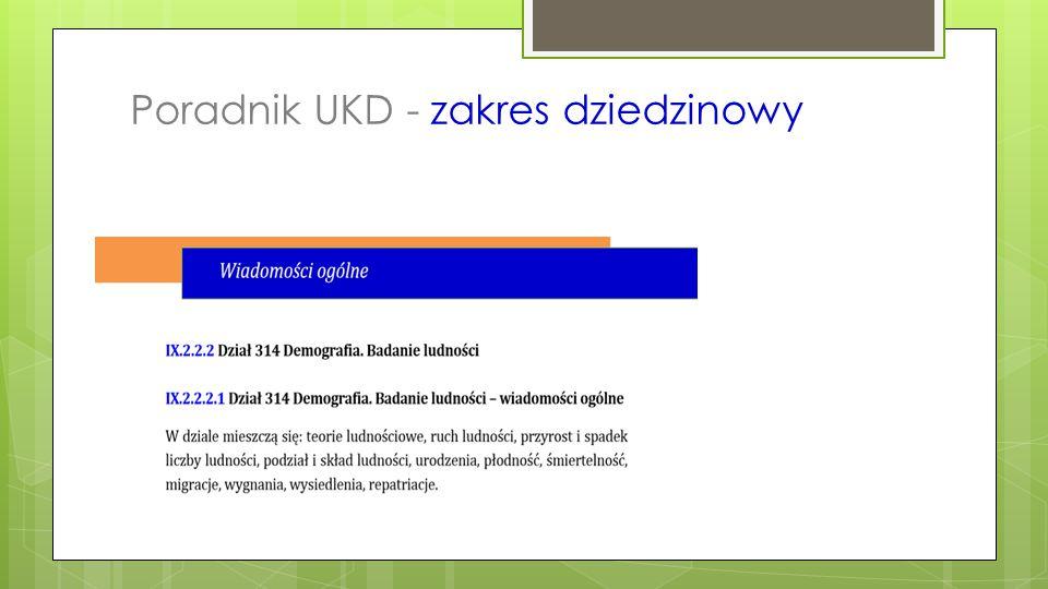 Biuletyn UKD – prezentacja grup zagadnień  Marketing - BUKD nr 1/2012  Unia Europejska - BUKD nr 3/2012  Bezpieczeństwo - BUKD nr 2/2014  Regionalizm - BUKD nr 5/2014