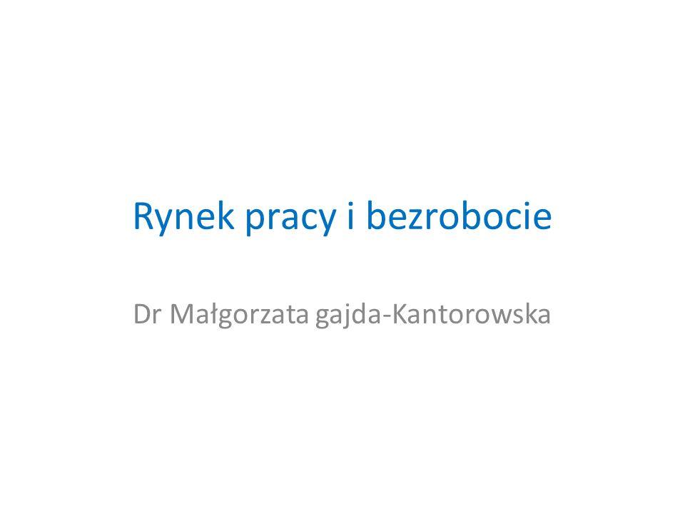 Rynek pracy i bezrobocie Dr Małgorzata gajda-Kantorowska