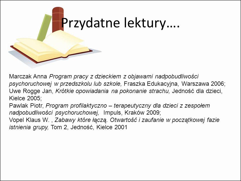 Przydatne lektury….