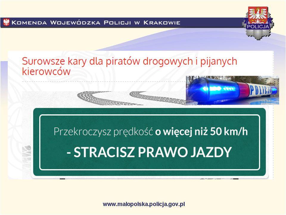 Za przekroczenie prędkości na obszarze zabudowanym o 50 km/h kierującemu zostanie zatrzymane prawo jazdy.