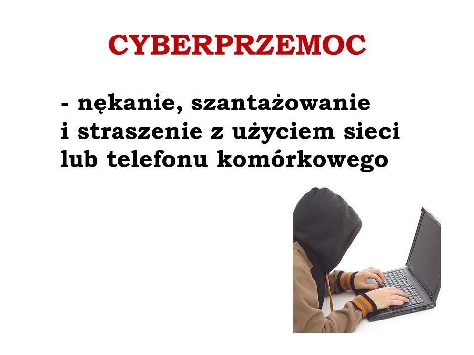 CYBERPRZEMOC - nękanie, szantażowanie i straszenie z użyciem sieci lub telefonu komórkowego