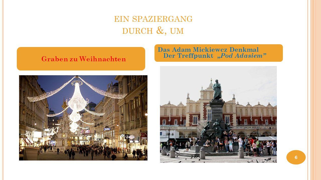 """EIN SPAZIERGANG DURCH &, UM Graben zu Weihnachten Das Adam Mickiewcz Denkmal Der Treffpunkt """"Pod Adasiem"""" 6"""