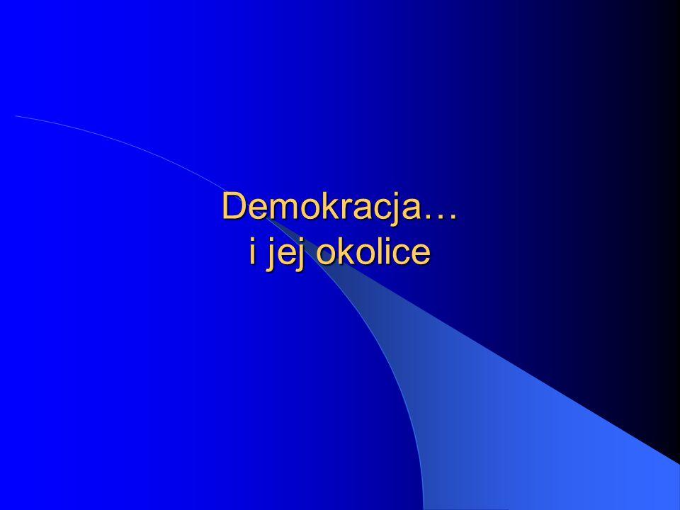 """12 Demokracja socjalistyczna - demokracja ludowa czyli """"ludowe rządy ludu państwa Europy wschodniej (zależne od ZSRR) dyktatury partii komunistycznej przy pozorach formalnej demokracji parlamentarnej oficjalnie władza należała do """"ludu pracującego miast i wsi jako suwerena, ale w rzeczywistości rządziła partia"""