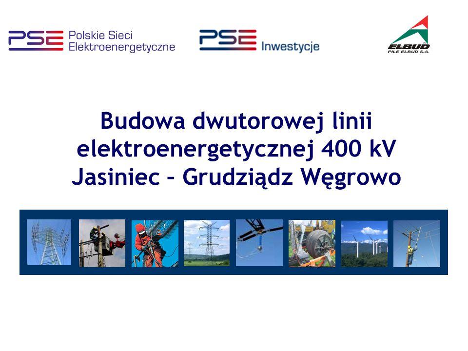 Oddziaływanie linii na ludzi i środowisko - pole magnetyczne Linia elektroenergetyczna 400 kV Jasiniec – Grudziądz Węgrowo Dopuszczalne wartości pola magnetycznego w miejscach dostępnych dla ludzi – 60 A/m.