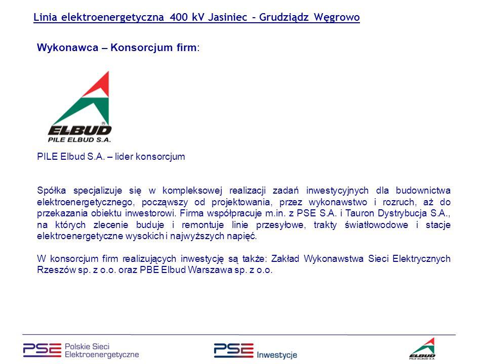 Linia elektroenergetyczna 400 kV Jasiniec – Grudziądz Węgrowo Konieczność rozbudowy sieci przesyłowych PSE S.