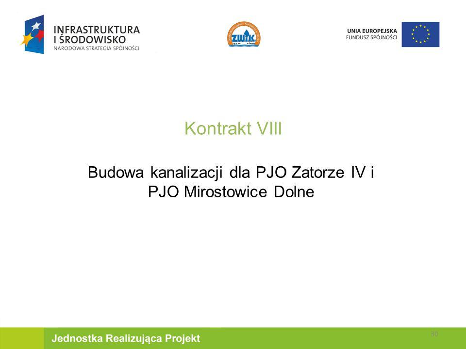 Kontrakt VIII Budowa kanalizacji dla PJO Zatorze IV i PJO Mirostowice Dolne 30