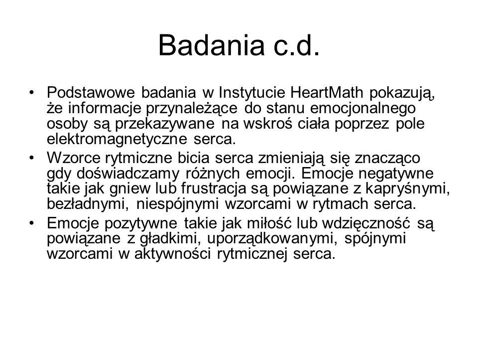 Badania c.d.