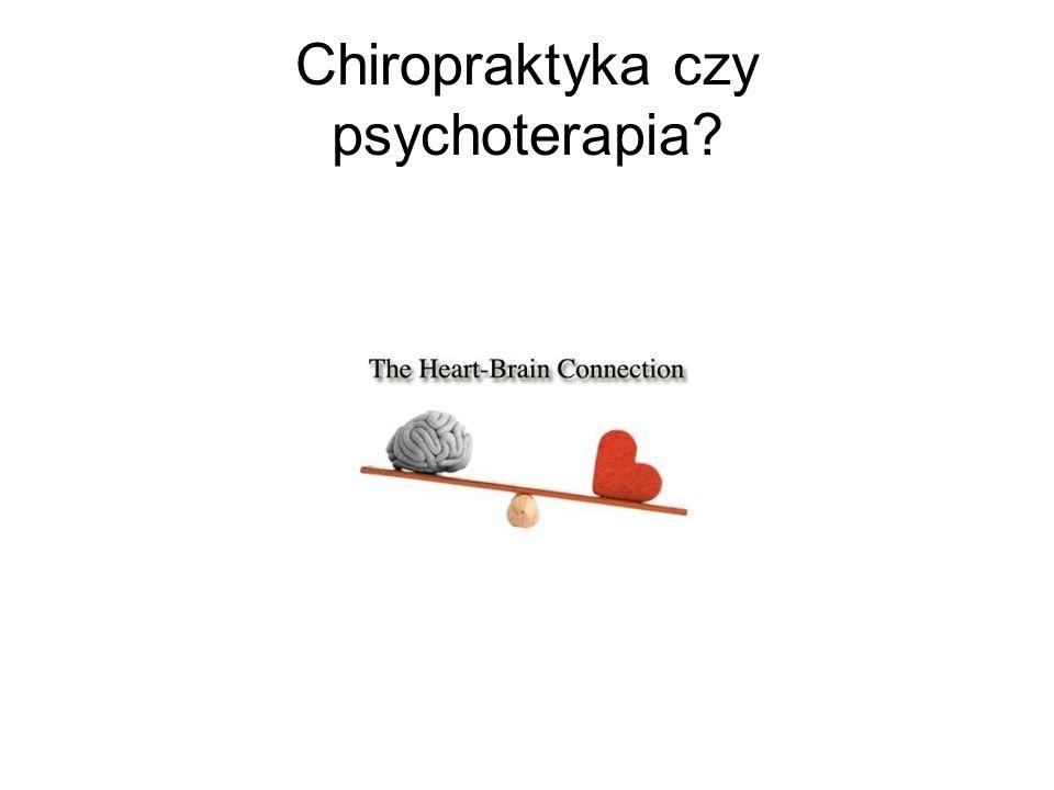 Chiropraktyka czy psychoterapia?
