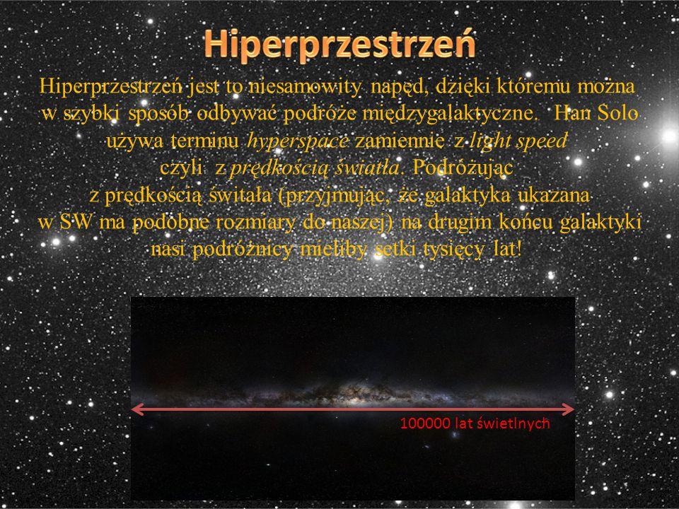 Hiperprzestrzeń jest to niesamowity napęd, dzięki któremu można w szybki sposób odbywać podróże międzygalaktyczne. Han Solo używa terminu hyperspace z