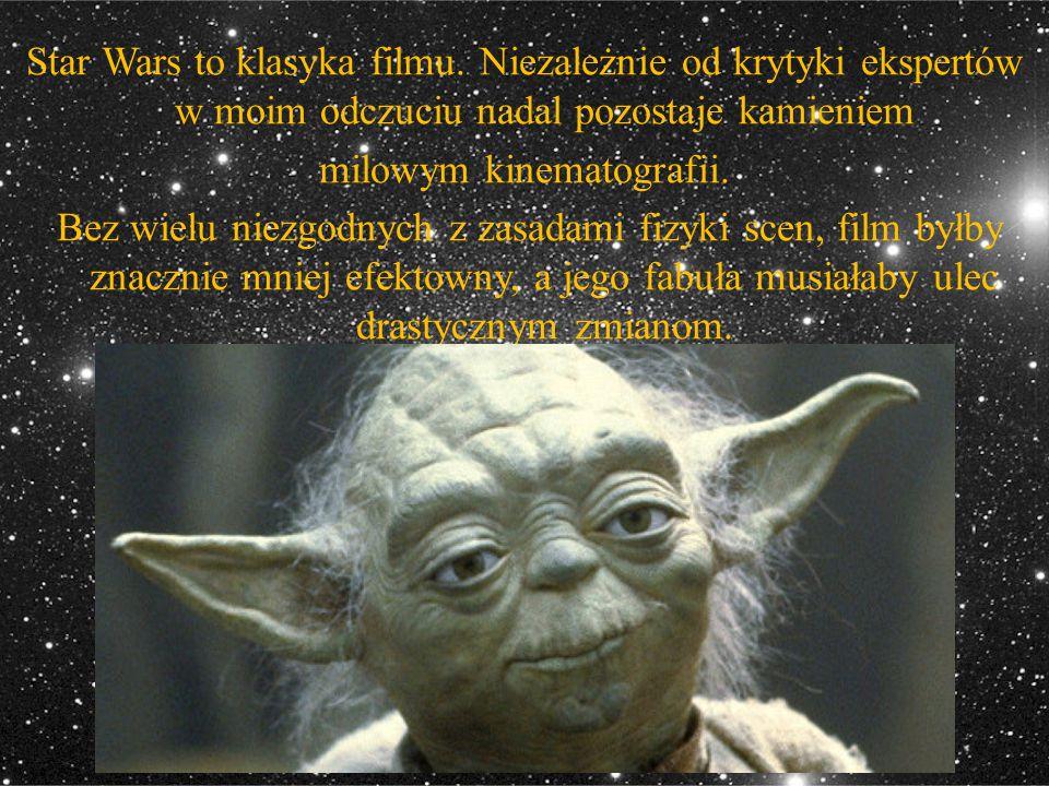Star Wars to klasyka filmu. Niezależnie od krytyki ekspertów w moim odczuciu nadal pozostaje kamieniem milowym kinematografii. Bez wielu niezgodnych z