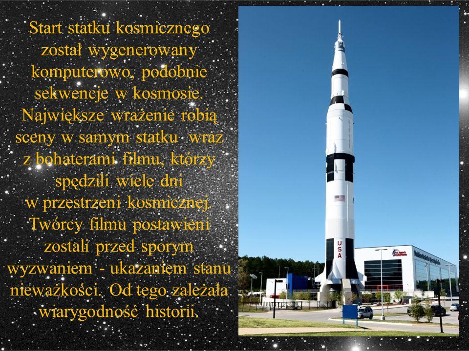 Start statku kosmicznego został wygenerowany komputerowo, podobnie sekwencje w kosmosie. Największe wrażenie robią sceny w samym statku wraz z bohater