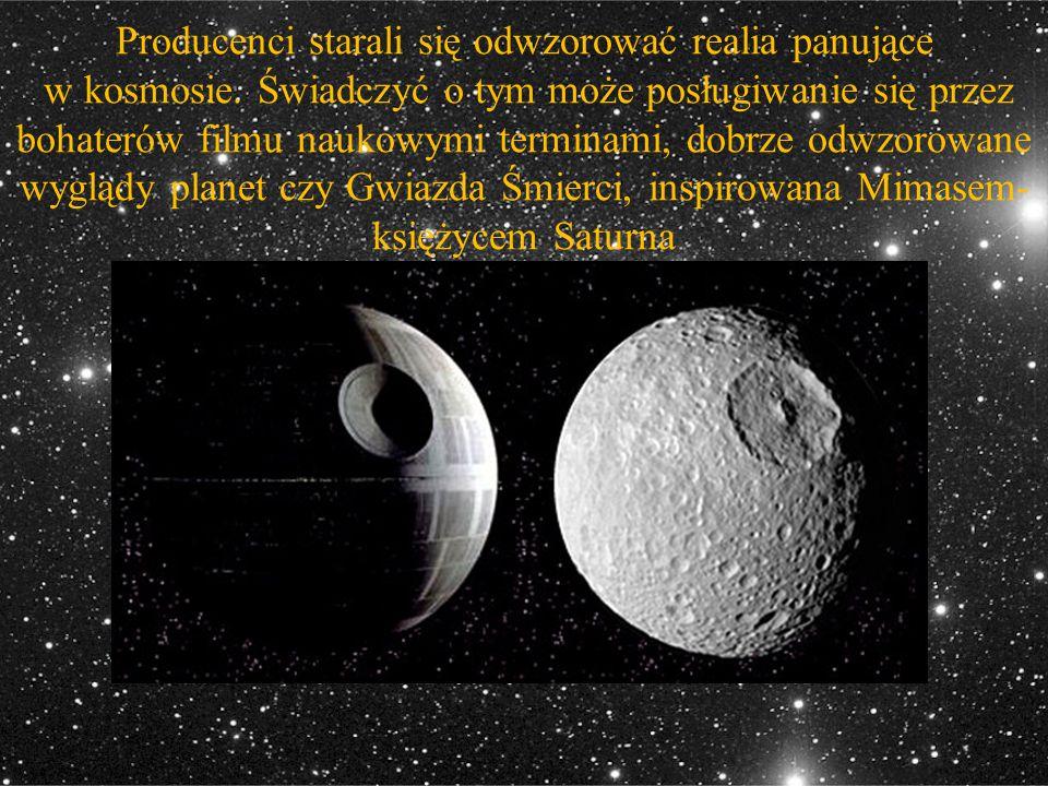 Producenci starali się odwzorować realia panujące w kosmosie. Świadczyć o tym może posługiwanie się przez bohaterów filmu naukowymi terminami, dobrze