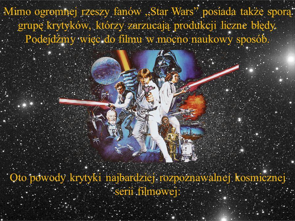 """Mimo ogromnej rzeszy fanów """"Star Wars"""" posiada także sporą grupę krytyków, którzy zarzucają produkcji liczne błędy. Podejdźmy więc do filmu w mocno na"""