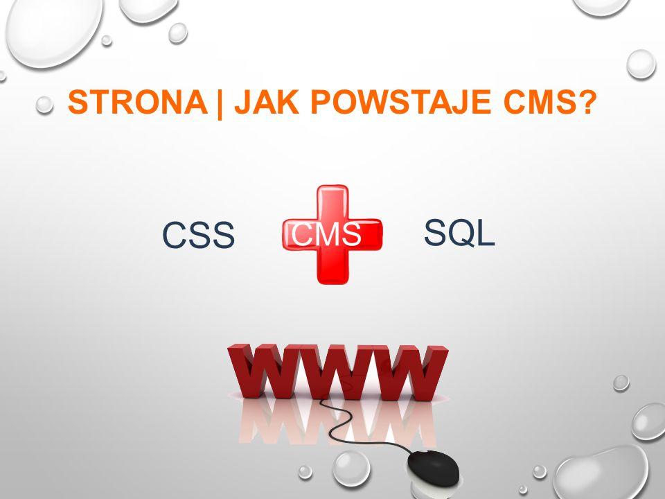 STRONA | JAK POWSTAJE CMS CSS SQL CMS