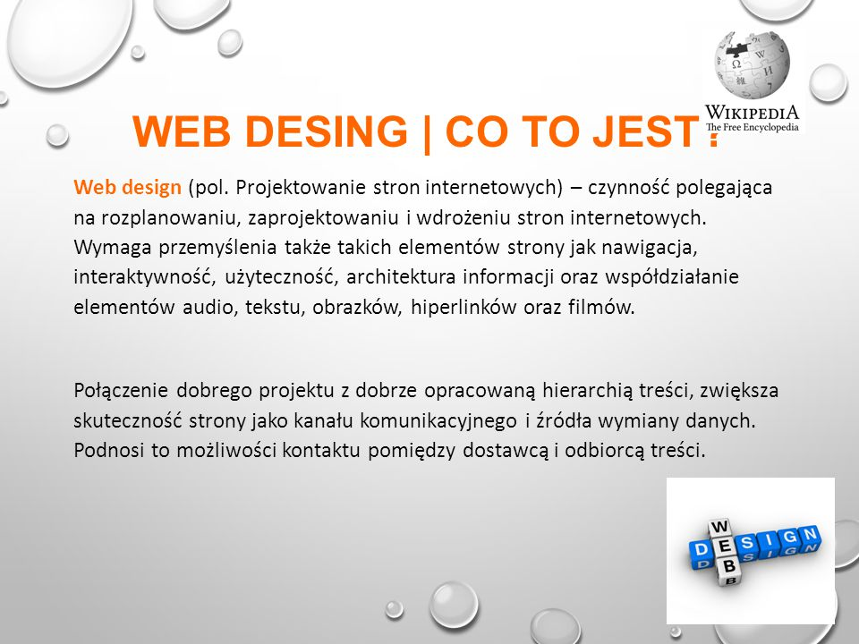 WEB DESING | CO TO JEST. Web design (pol.