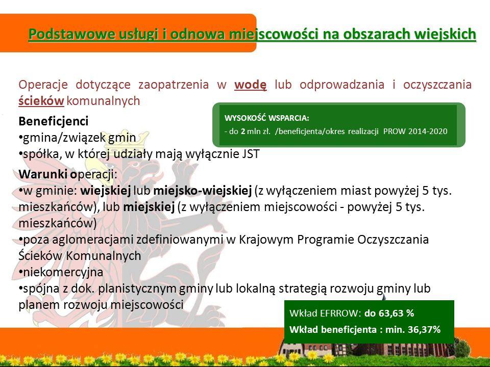 PROW 2007-2013PROW 2014-2020 DziałanieZakresDziałanieZakres Poprawianie i rozwijanie infrastruktury związanej z rozwojem i dostosowywaniem rolnictwa i leśnictwa poprzez: 1.