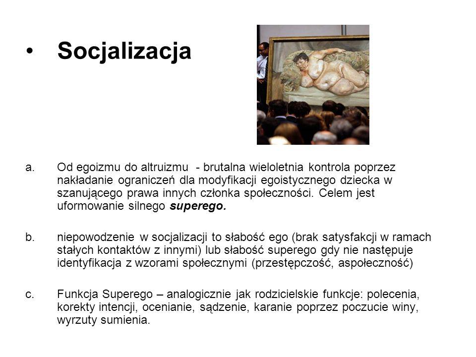 Socjalizacja a.Od egoizmu do altruizmu - brutalna wieloletnia kontrola poprzez nakładanie ograniczeń dla modyfikacji egoistycznego dziecka w szanujące