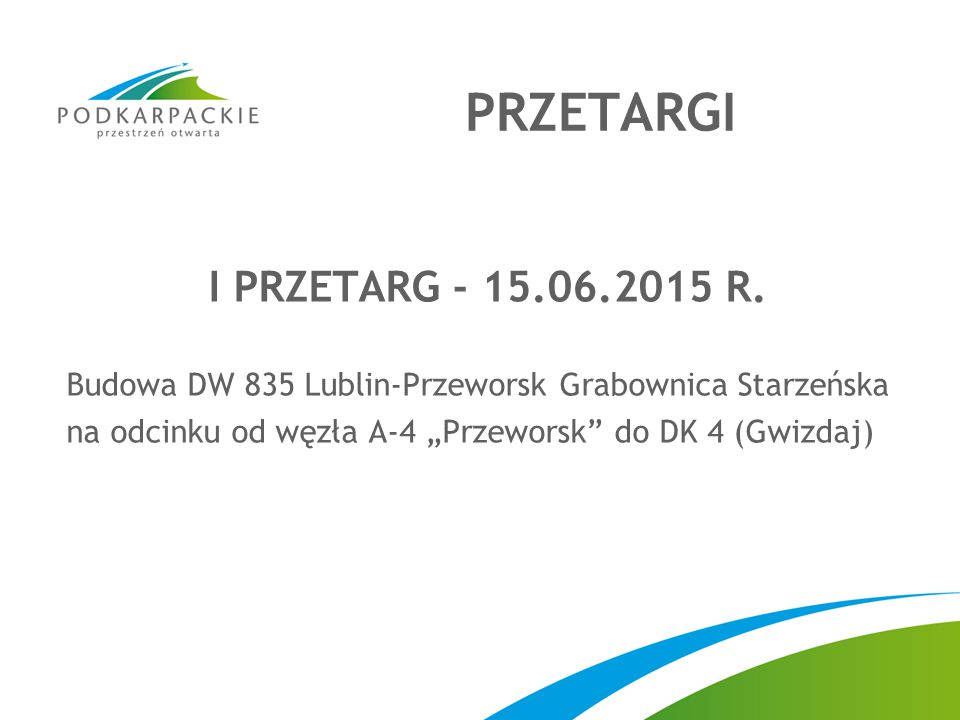 PRZETARGI I PRZETARG - 15.06.2015 R.