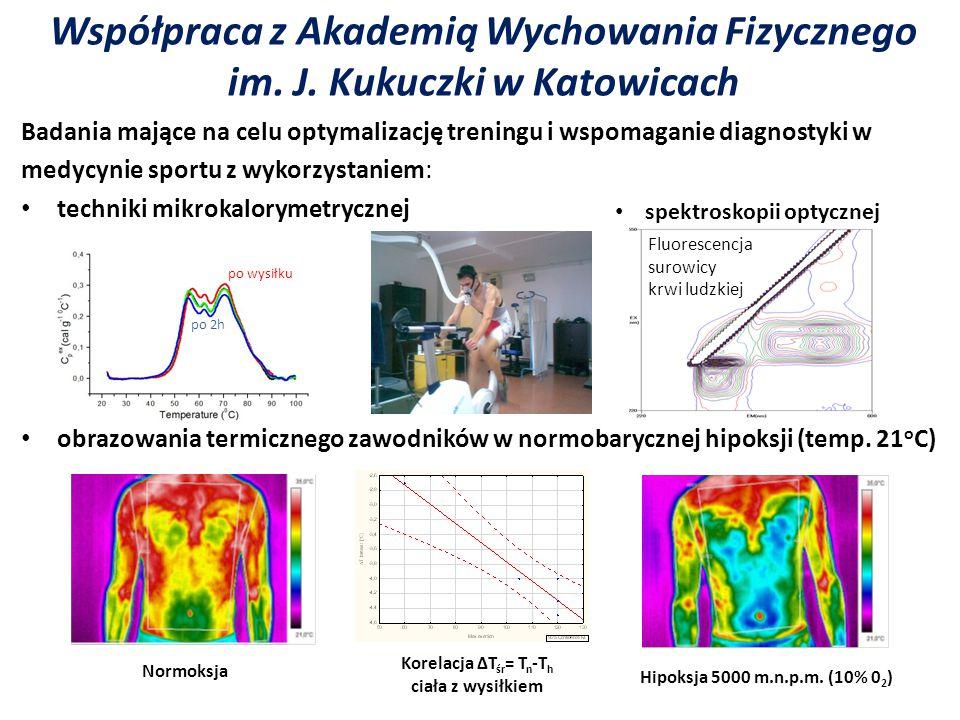 Współpraca z Akademią Wychowania Fizycznego im. J. Kukuczki w Katowicach Badania mające na celu optymalizację treningu i wspomaganie diagnostyki w med