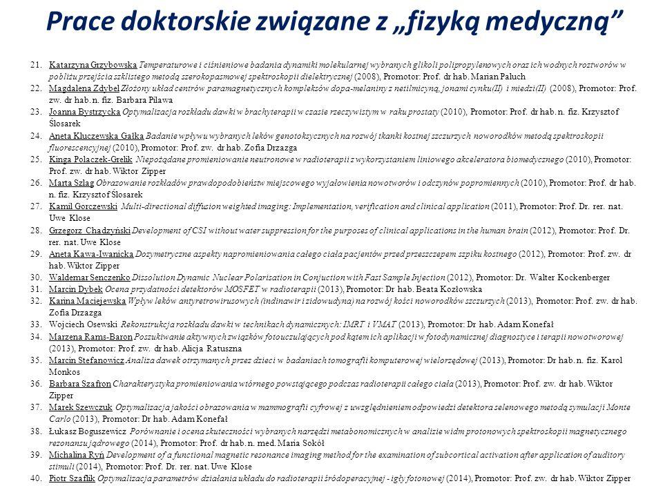 21.Katarzyna Grzybowska Temperaturowe i ciśnieniowe badania dynamiki molekularnej wybranych glikoli polipropylenowych oraz ich wodnych roztworów w pob