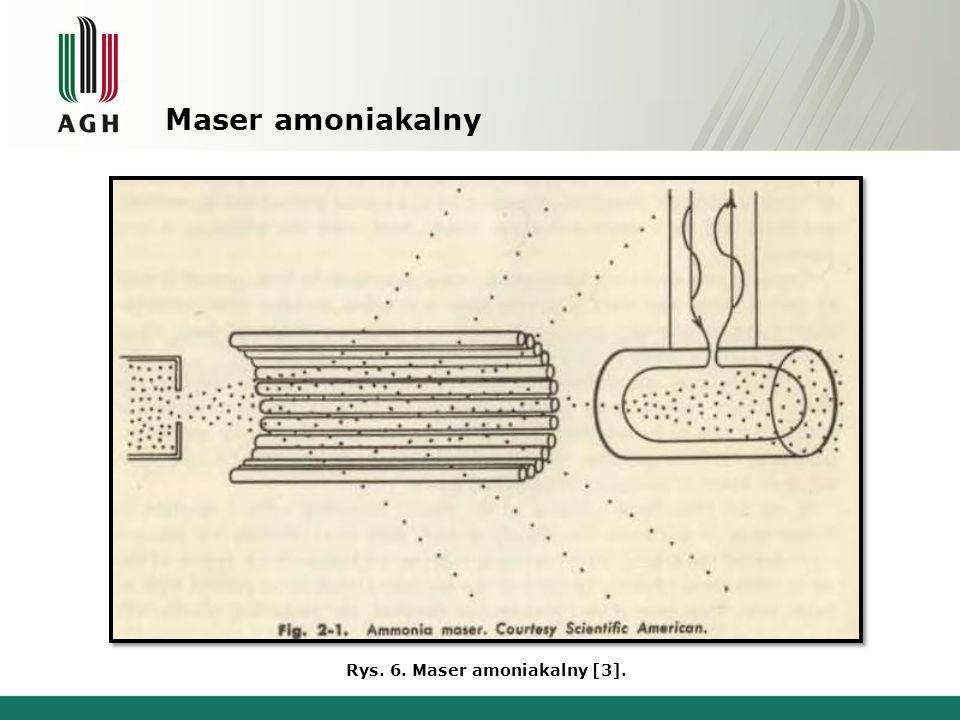 Maser amoniakalny, w zasadzie, nie znalazł zastosowania jako wzmacniacz ze względu na wąskie pasmo przenoszenia i bardzo mały zakres przestrajania, wynoszący zaledwie kilka kiloherców, jak również z powodu ograniczonej wartości mocy wyjściowej nie przekraczającej 10 -9 W.