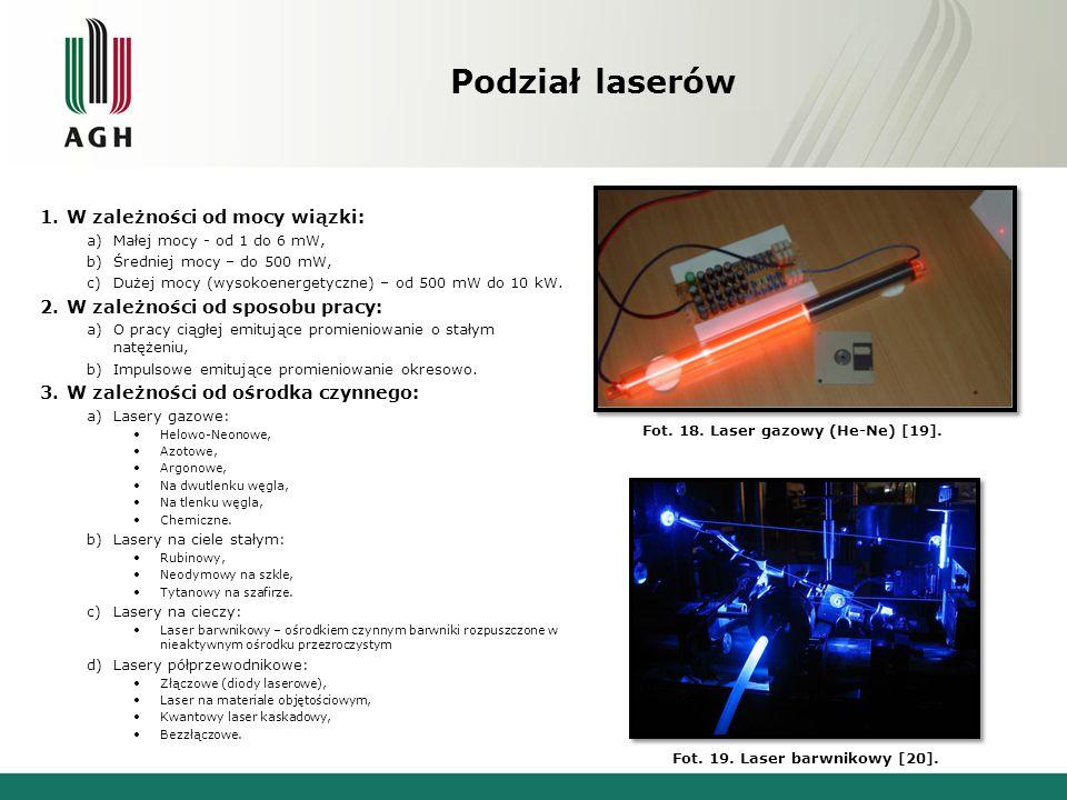 Podział laserów 4.