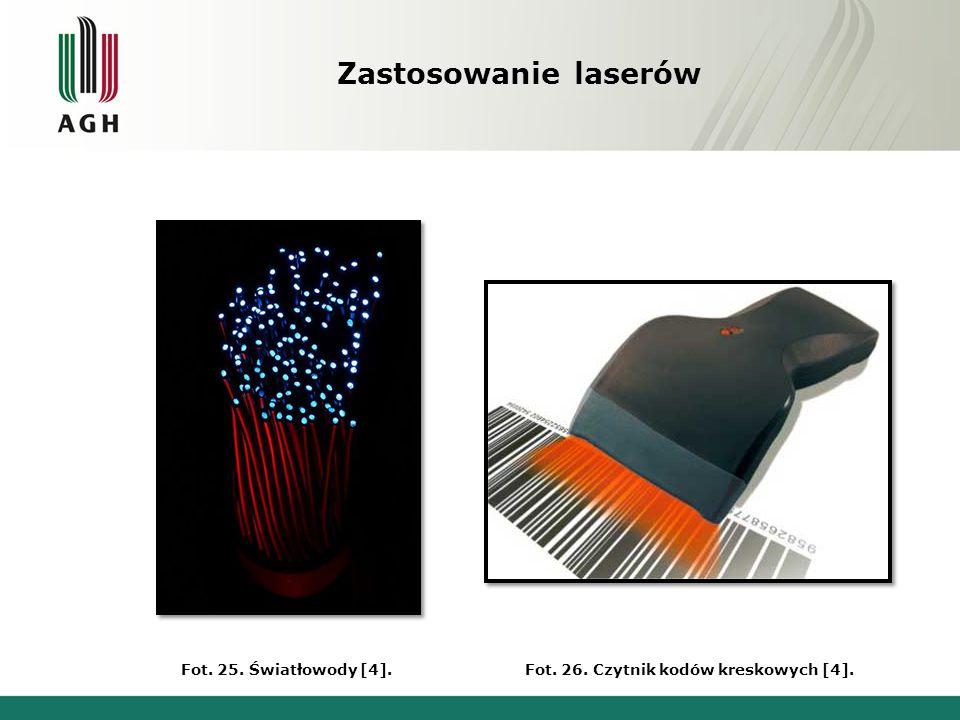 Zastosowanie laserów Fot. 27. Płyty CD [4].Fot. 28. Wskaźnik laserowy [4].