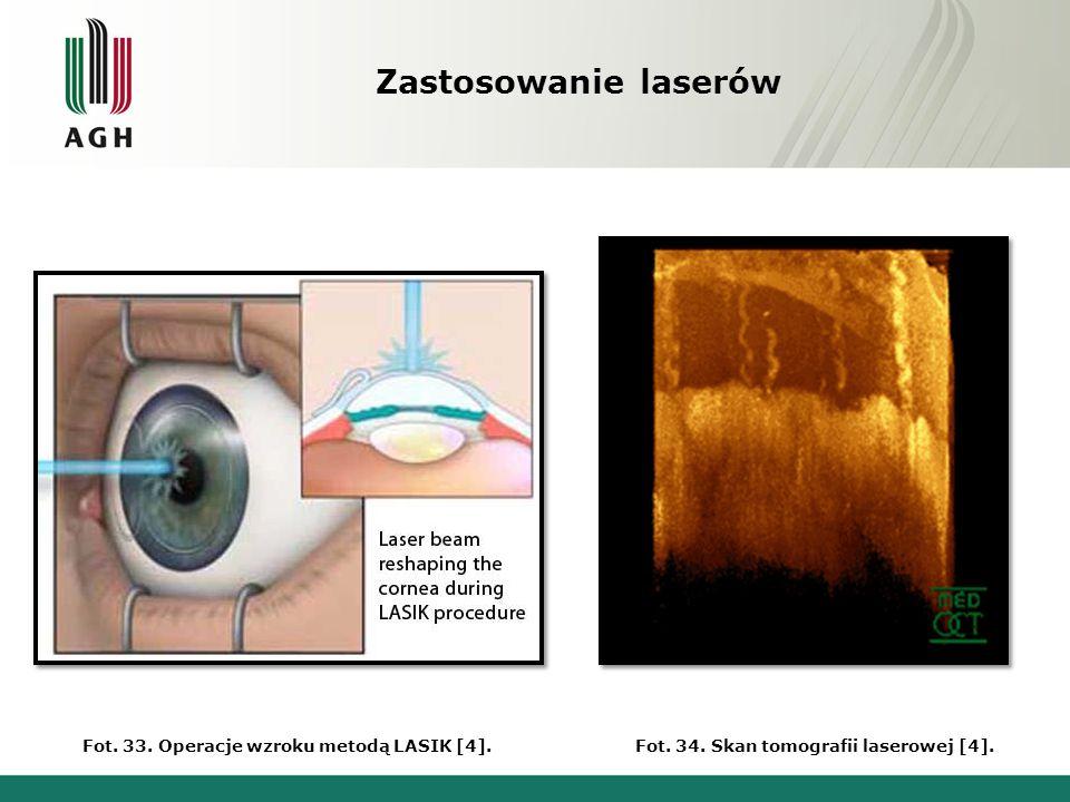 Zastosowanie laserów Fot. 35. Oprawa koncertu [4].Fot. 36. Zabezpieczenia laserowe [4].
